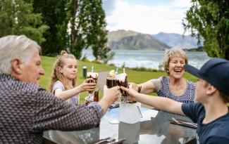 Family time with Grandchildren at Edgewater Lake Wanaka 1805