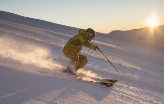 Coronet Peak morning ski