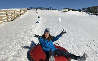 Tubing at Snow Farm
