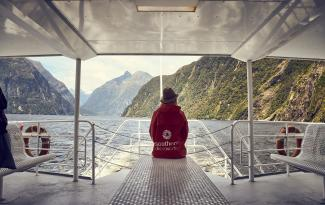 Taking in the grandeur of Milford Sound from Lady Bowen